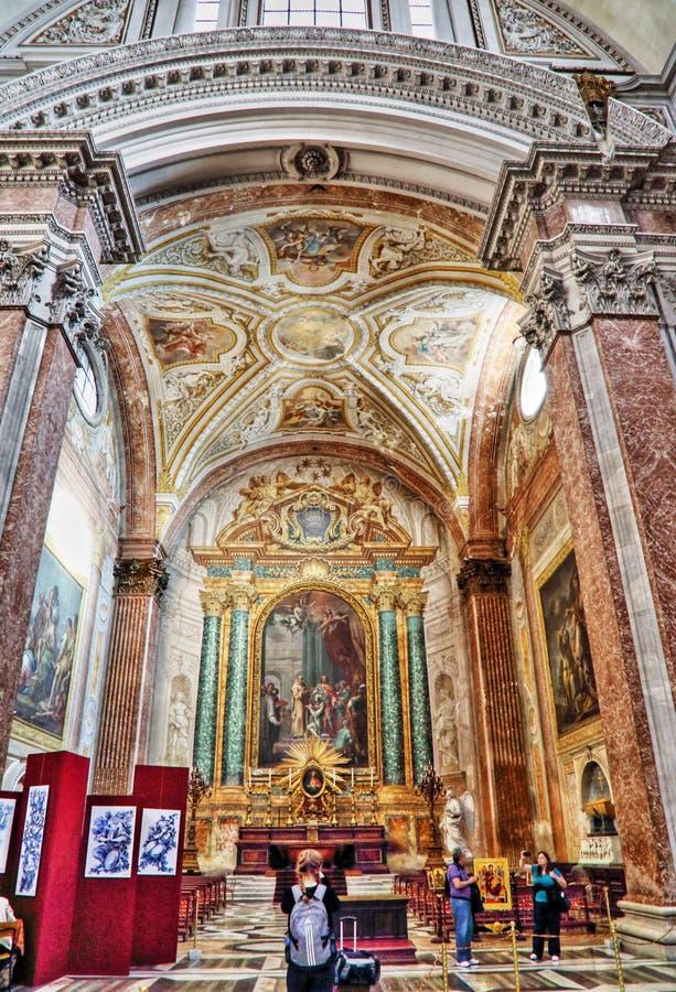 Basilique de St Mary des anges et des martyres, Rome images libres de droits