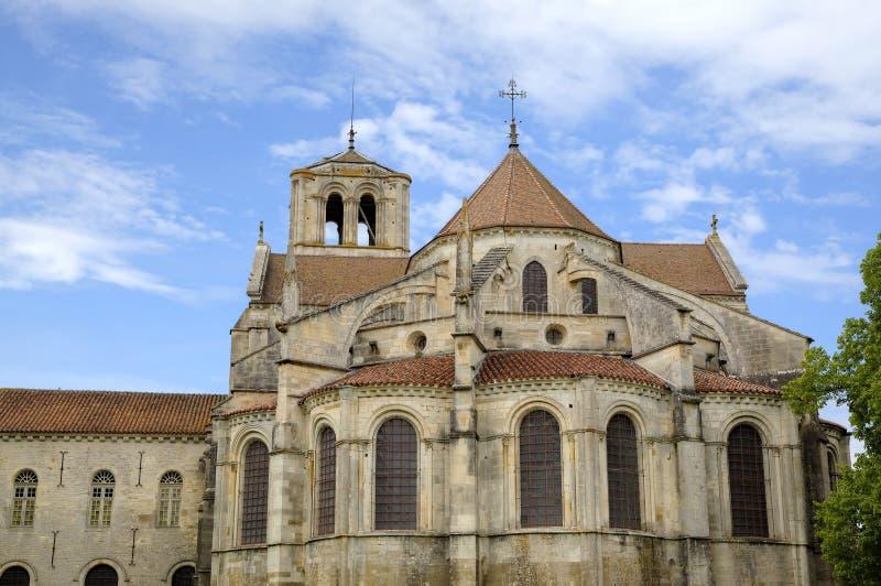 Basilique de St Mary Magdalene dans l'abbaye de Vezelay Bourgogne, France photographie stock