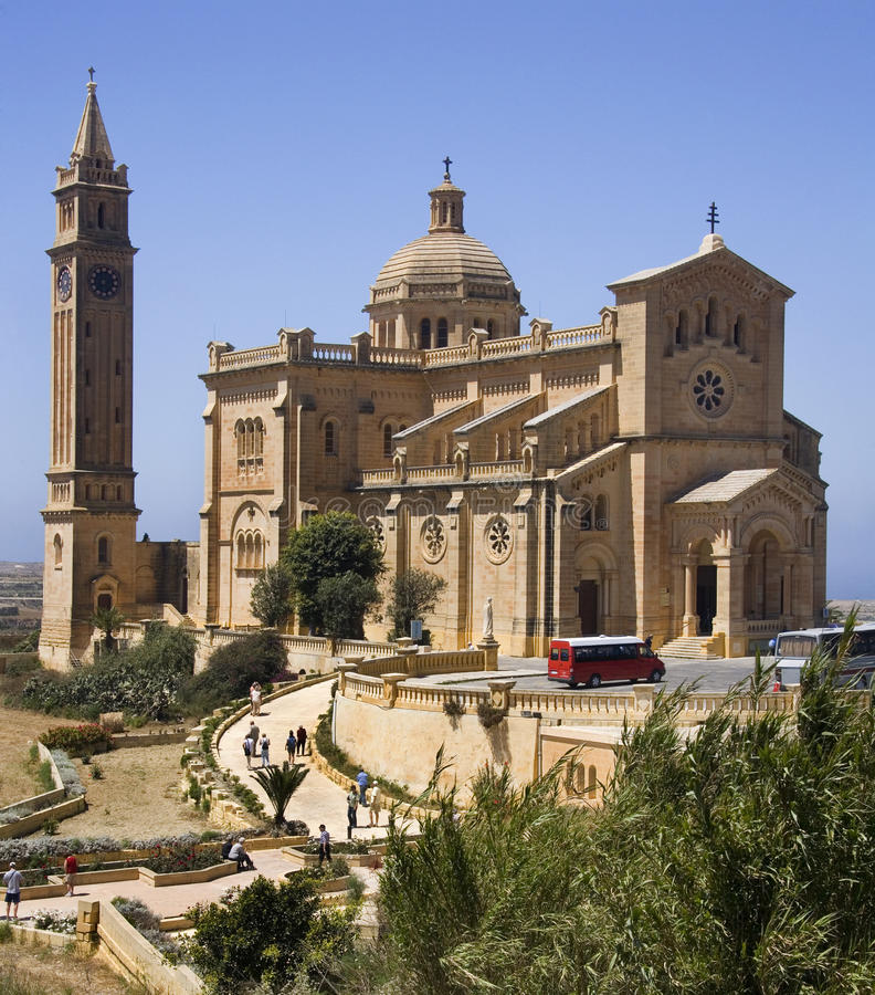 Basilique de Ta Pinu - Gozo - Malte image stock