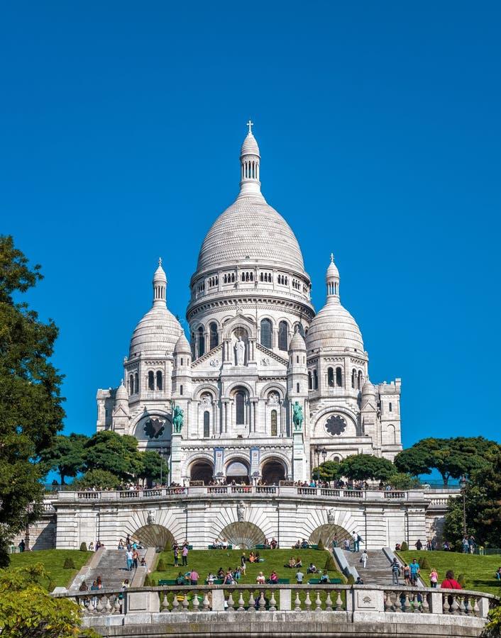 Basilique du coeur sacré (Basilique du Sacre-Coeur), Paris photos stock