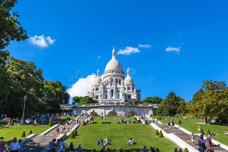 Basilique du coeur sacré de Paris photos stock