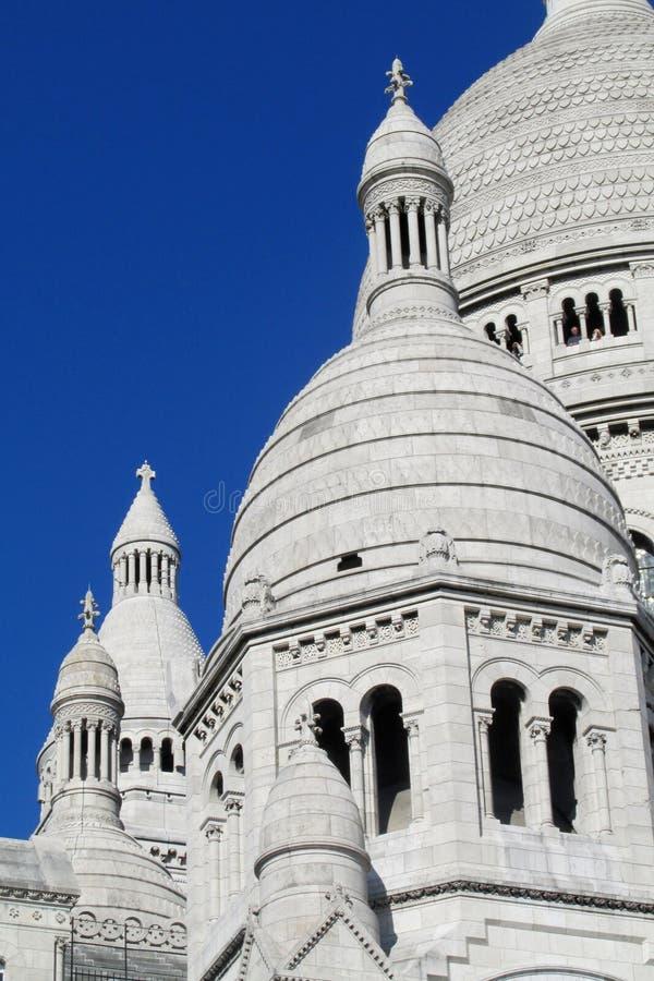 Basilique du coeur sacré de Paris sur Montmartre image stock