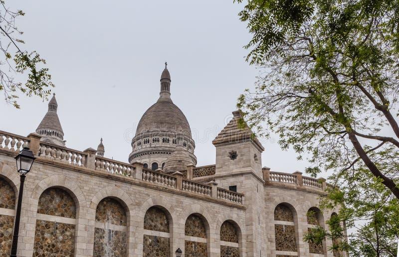 Basilique du Sacre C? ur 1914 Kulle Montmartre, Paris royaltyfri bild