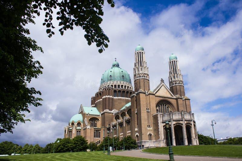 Basilique du Sacre-Coeur (basilique sacrée de coeur) à Bruxelles, Belgique images libres de droits