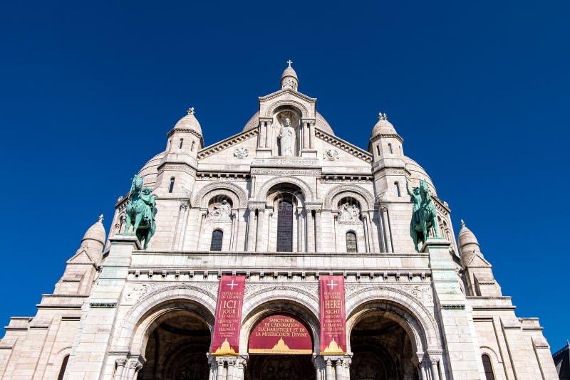 The Basilique du Sacre Coeur de Montmartre in Paris, France.  royalty free stock photography