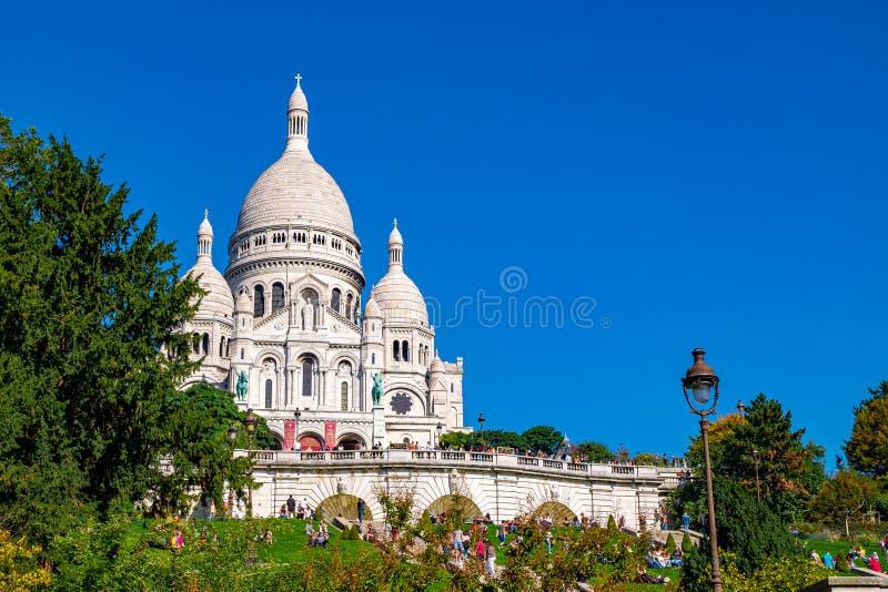 The Basilique du Sacre Coeur de Montmartre in Paris, France.  royalty free stock images