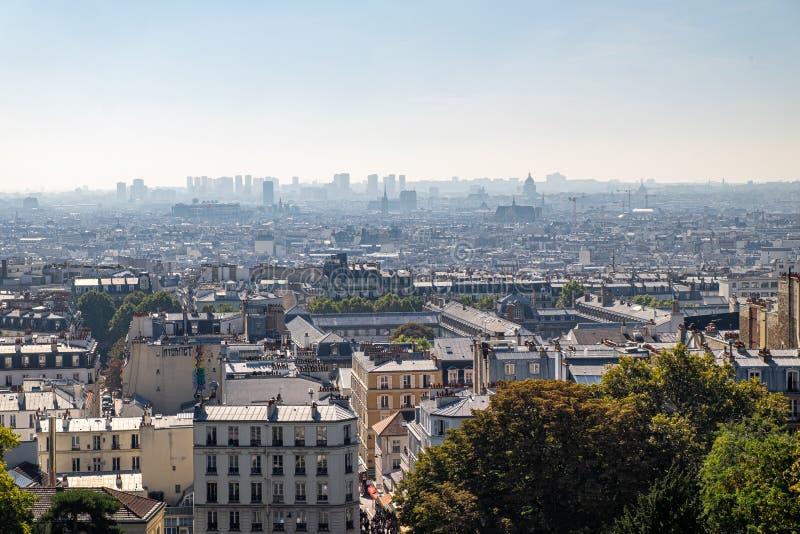 The Basilique du Sacre Coeur de Montmartre view in Paris, France. The Basilique du Sacre Coeur de Montmartre in Paris, France stock photo