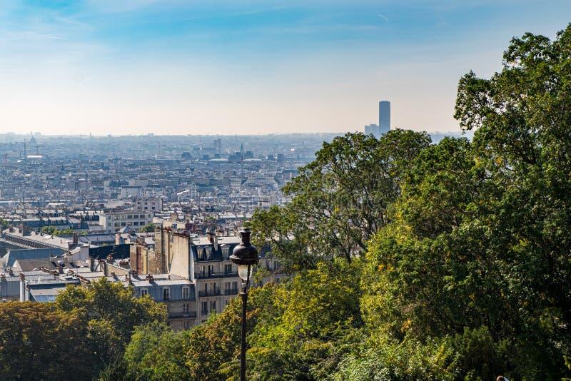 The Basilique du Sacre Coeur de Montmartre view in Paris, France. The Basilique du Sacre Coeur de Montmartre in Paris, France royalty free stock photo
