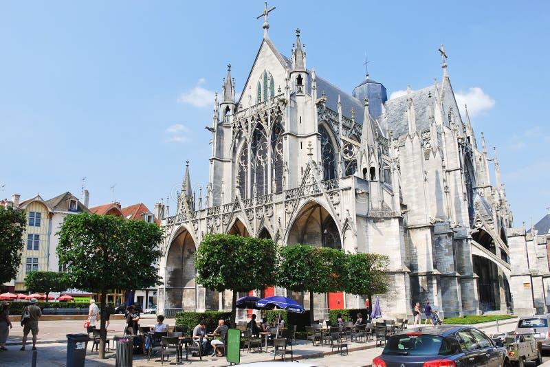 Basilique gothique de saint-Urbain à Troyes, France images libres de droits