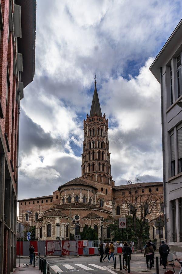 Basilique-Heilig-Serninde Toulouse in Frankreich stockfotos