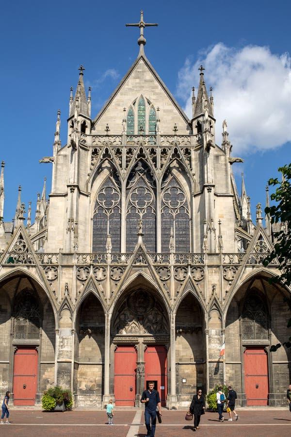 Basilique heilige-Urbain, de 13de eeuw gotische kerk in Troyes, Frankrijk stock foto