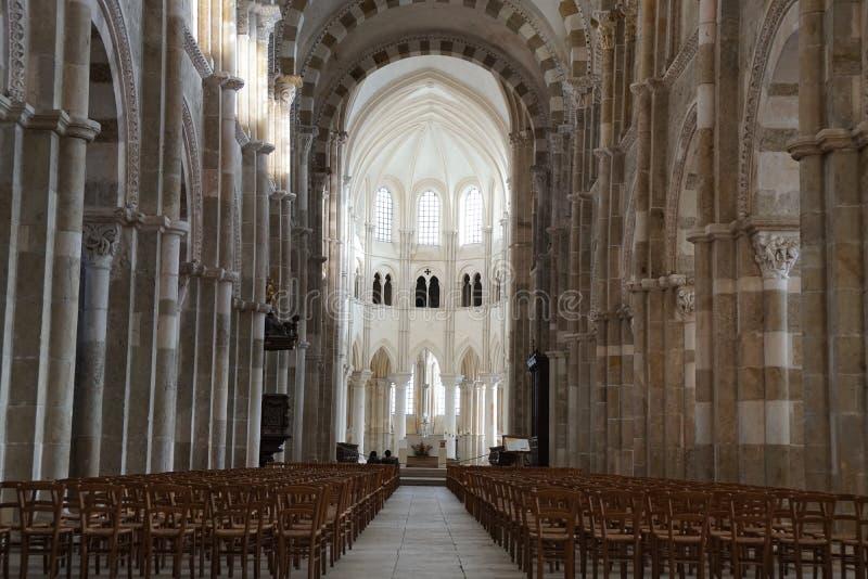 Basilique Madeleine De Vezelay kościół w Vezelay zdjęcia royalty free