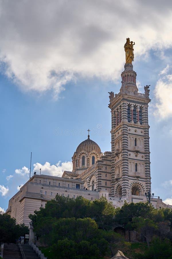 Basilique Notre-Дам-de-Ла-Garde, марсель Франция стоковое изображение rf
