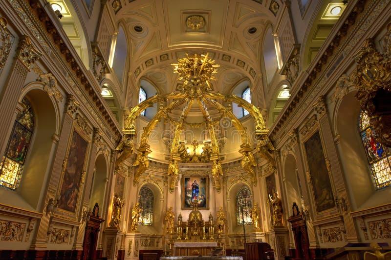 Basilique Notre-Dama-de-Quebeque foto de stock royalty free