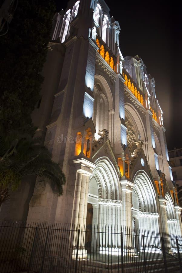 Basilique Notre-Dame DE l'Assomption, Nice, Frankrijk stock afbeelding
