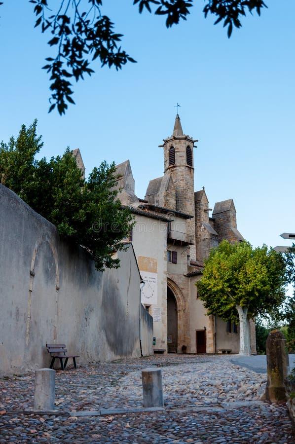 Basilique Notre Dame de Marceille dans Limoux image stock