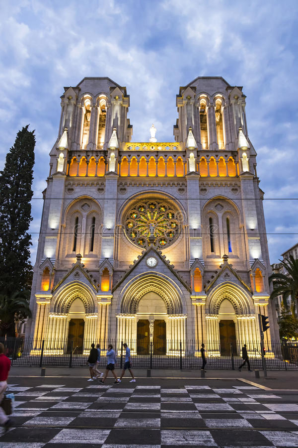 Basilique Notre Dame de Nice, Frankrijk royalty-vrije stock foto's