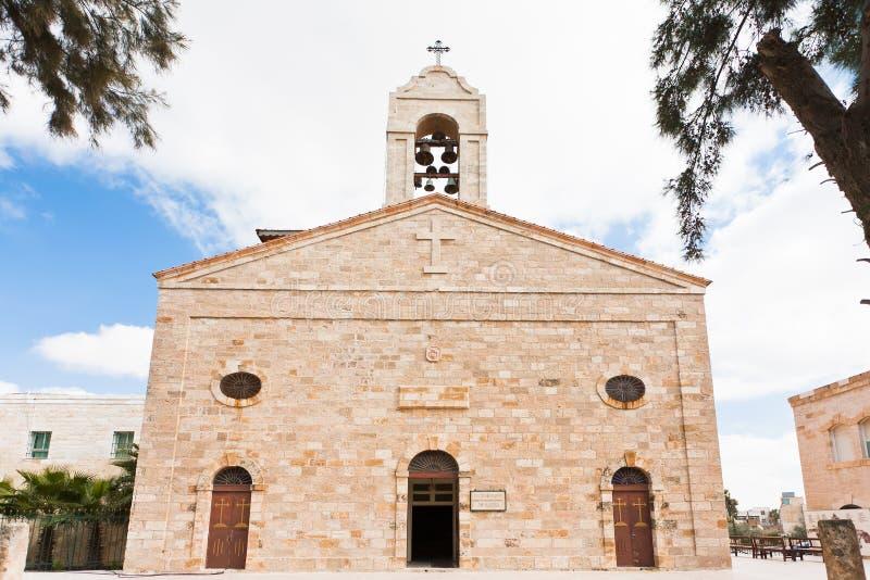 Basilique orthodoxe grecque dans Madaba photographie stock