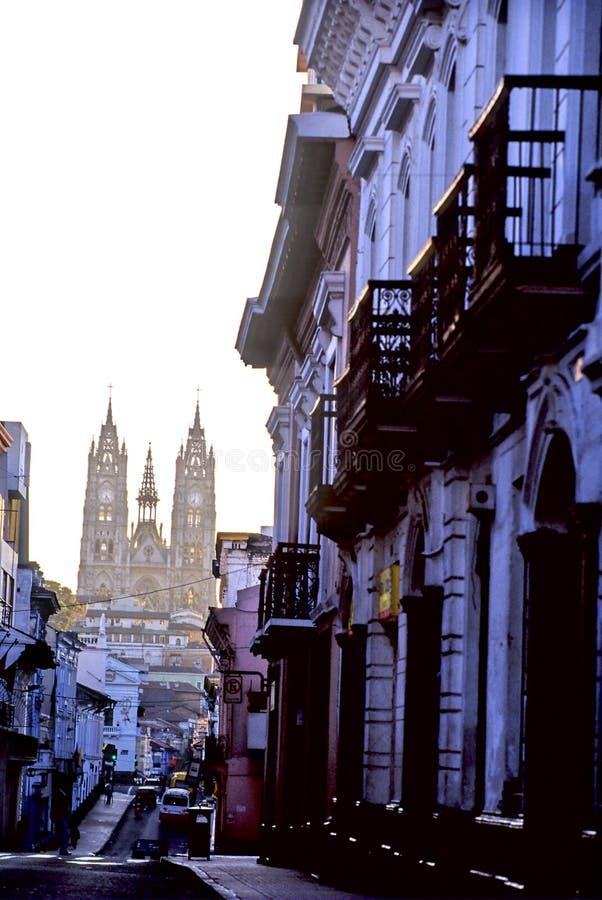 basilique Quito photographie stock