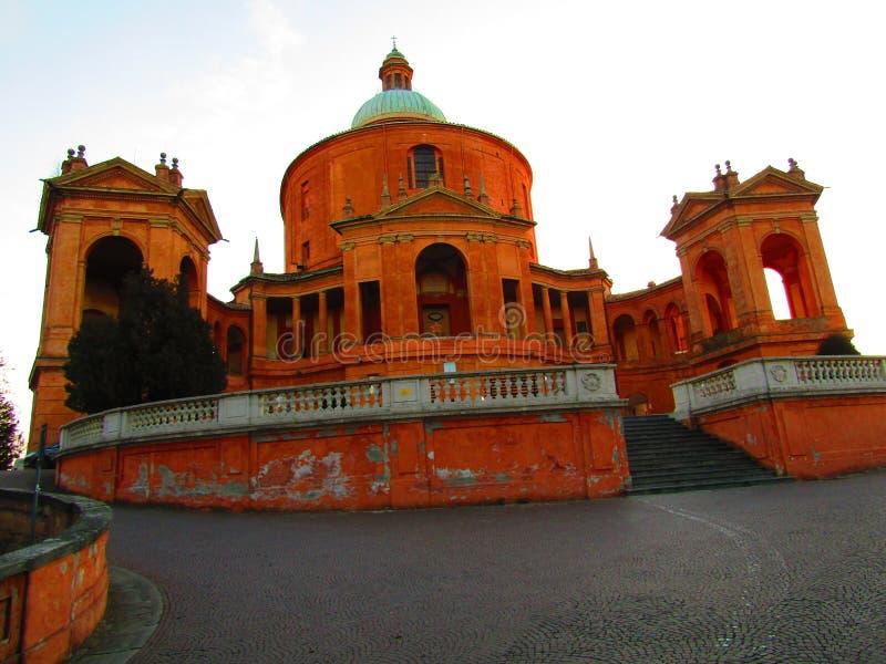 Basilique of Saint Luke in Bologna Italy royalty free stock photography