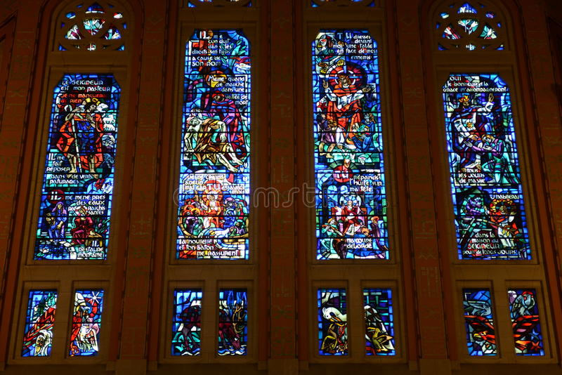 Basilique Sainte Thérèse àLisieux fotografering för bildbyråer