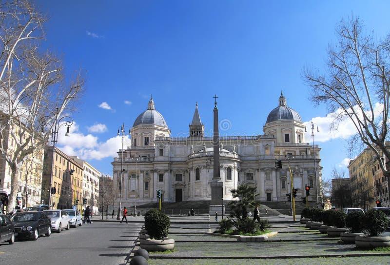 Basilique Santa Maria Maggiore à Roma images stock