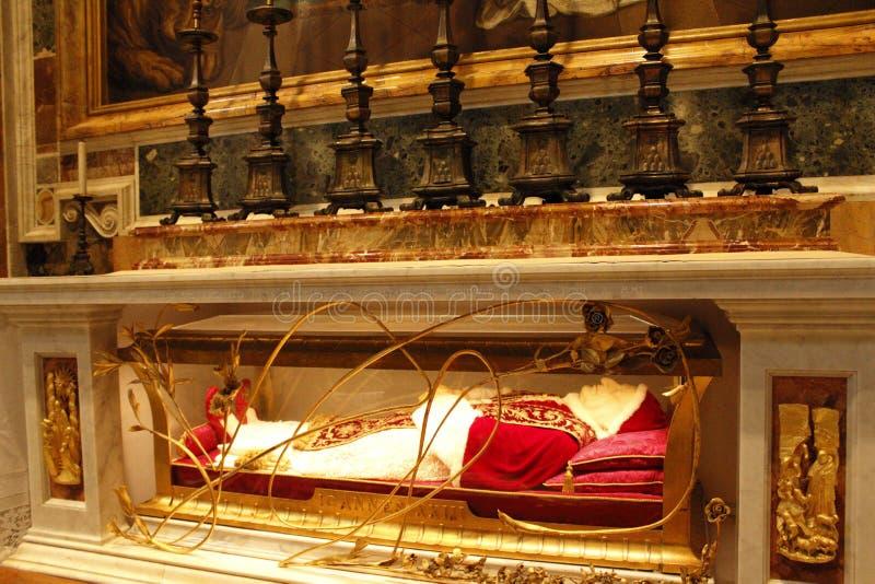 Basilique Vatican du ` s de pape St Peter de tombe image libre de droits