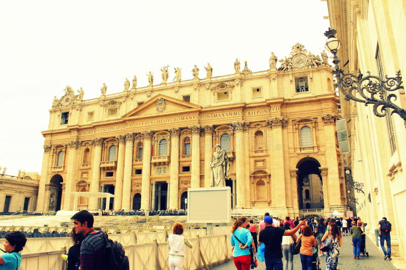Basilique Vatican du ` s de St Peter photo stock