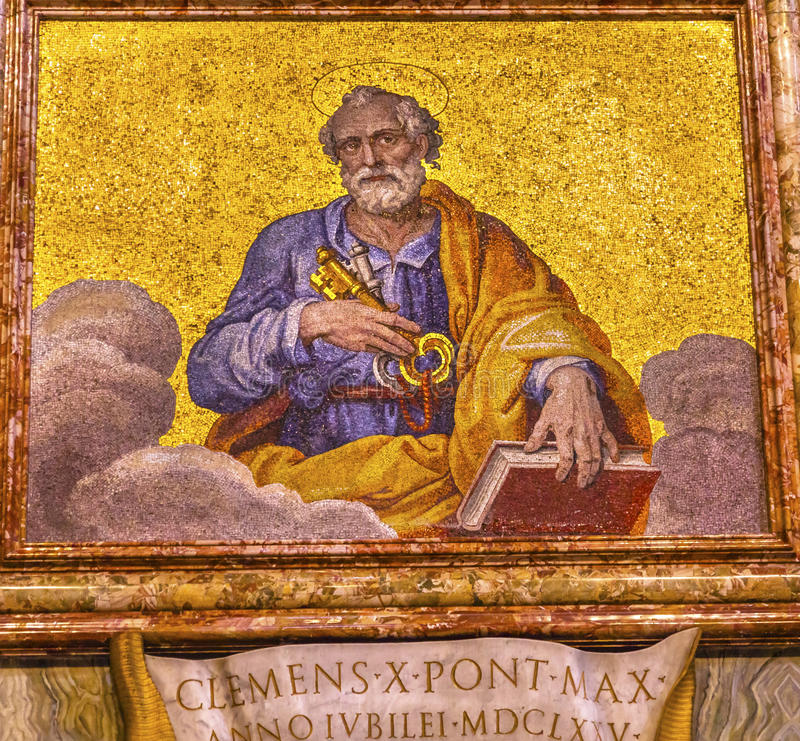 Basilique Vatican Rome Italie du ` s de Peter Mosaic Saint Peter de saint photographie stock