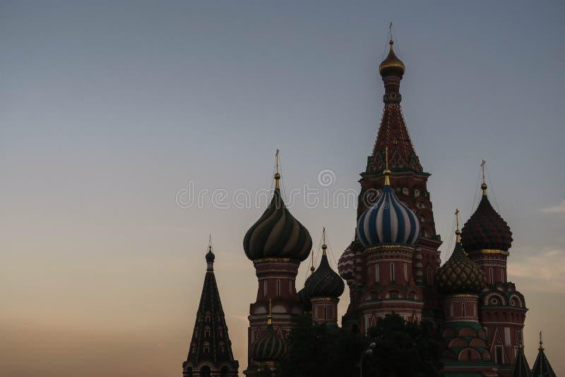 Basilius-kathedraal, die in Moskou gelijk maken stock foto