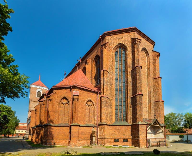 Basillica di St Peter e di St Paul a Kaunas fotografie stock