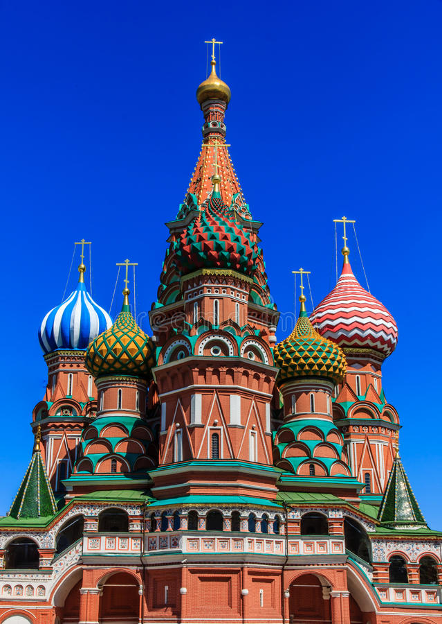 basilu katedralny Moscow s st fotografia royalty free