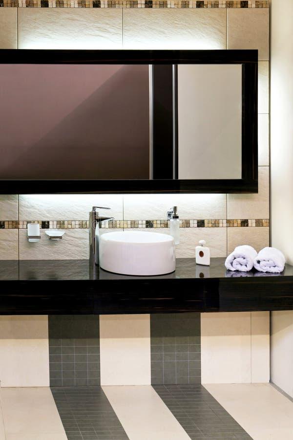 Basin and mirror royalty free stock photos