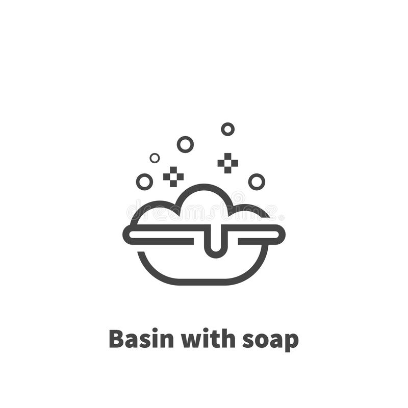 Basin With Soap Icon Vector Symbol Stock Vector Illustration Of