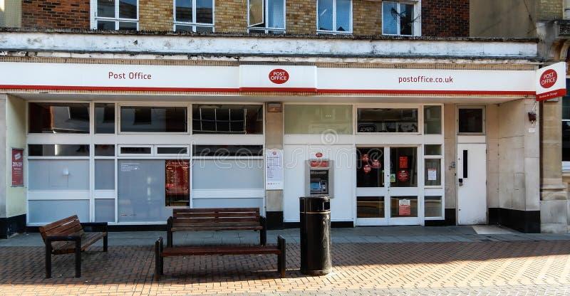 Basingstoke Post Office. Basingstoke, United Kingdom - July 05 2018: The front entrance to baasingstoke Post Office in London Street stock photos