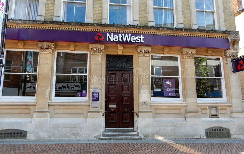 NatWest bank frontage royalty free stock image