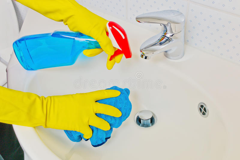Basins Will Be Cleaned Stock Images