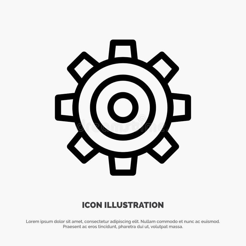 Basis, Algemeen, Baan, het Plaatsen, de Universele Vector van het Lijnpictogram stock illustratie