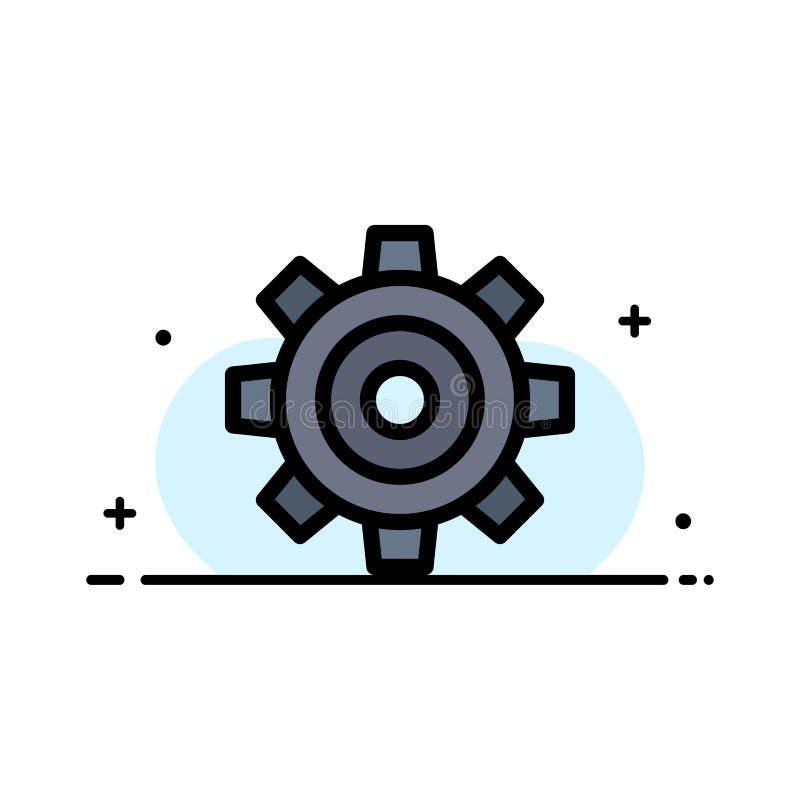Basis, Algemeen, Baan, het Plaatsen, het Universele Malplaatje van de Bedrijfs Vlakke Lijn Gevulde Pictogram Vectorbanner vector illustratie