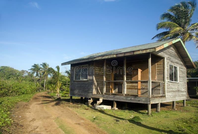 Basis cabana van het strandhuis graaneiland Nicaragua stock foto