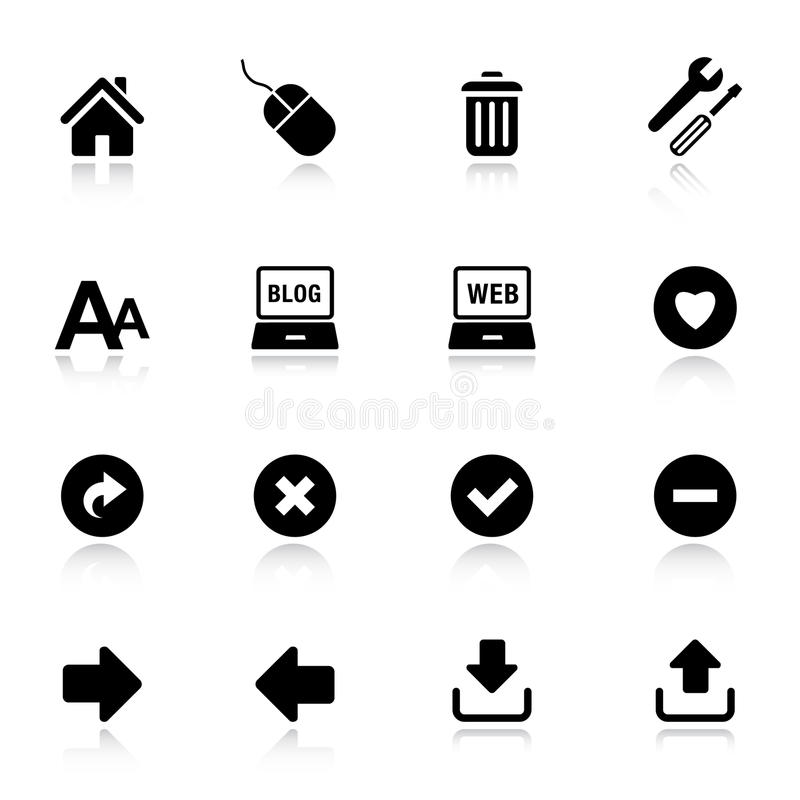 Basis - de Klassieke Pictogrammen van het Web vector illustratie