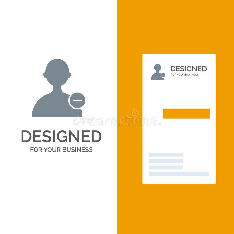 Basis, Interface, Gebruiker Grey Logo Design en Visitekaartjemalplaatje vector illustratie