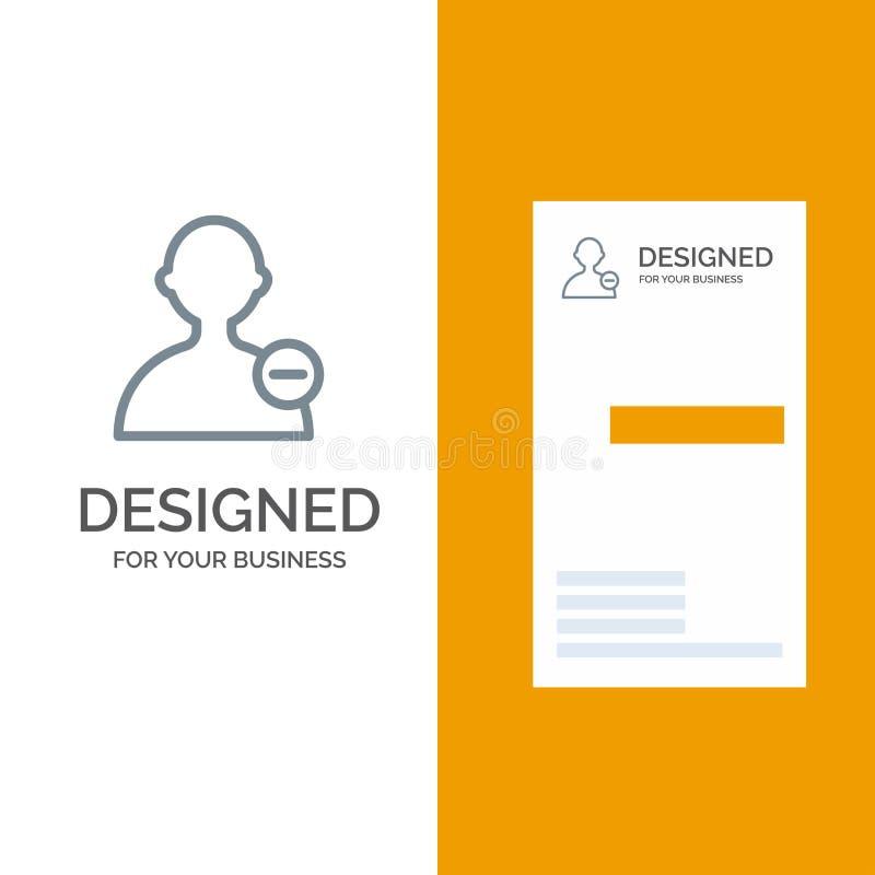 Basis, Interface, Gebruiker Grey Logo Design en Visitekaartjemalplaatje stock illustratie