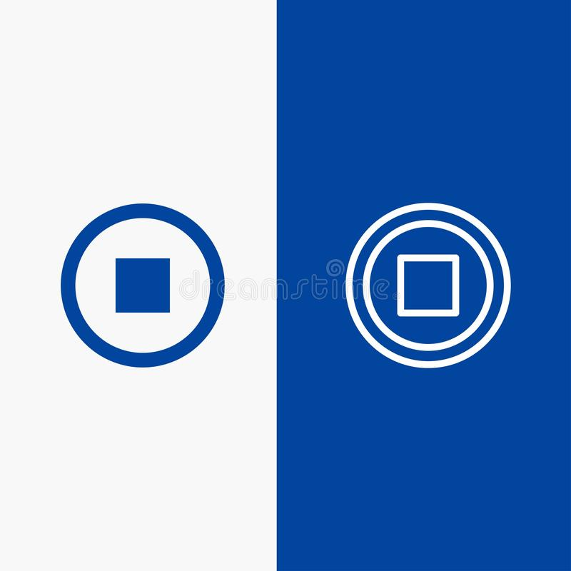 Basis, Interface, Gebruikerslijn en Lijn van de het pictogram Blauwe banner van Glyph de Stevige en Stevige het pictogram Blauwe  vector illustratie