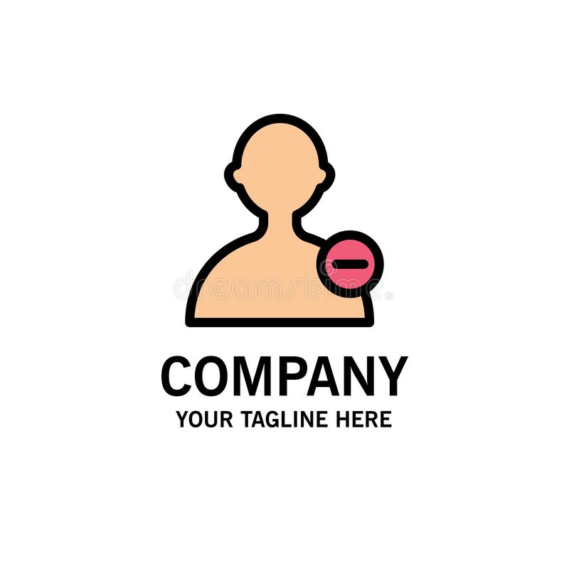 Basis, Interface, Gebruikerszaken Logo Template vlakke kleur stock illustratie