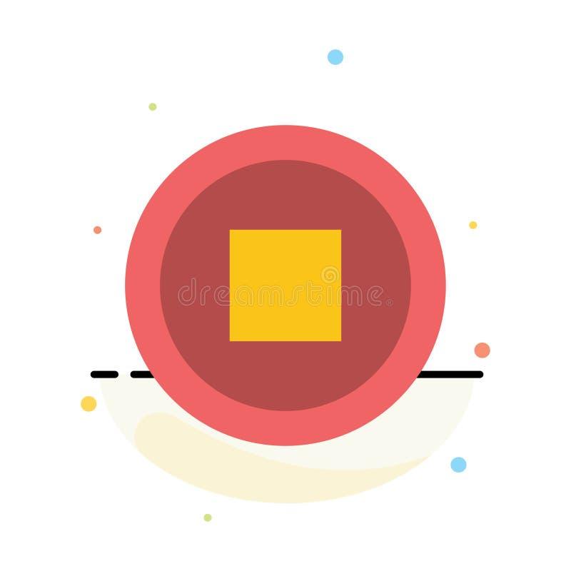 Basis, Interface, het Pictogrammalplaatje van de Gebruikers Abstract Vlak Kleur stock illustratie
