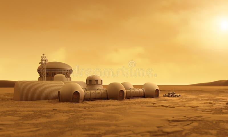 Basis op Mars royalty-vrije illustratie
