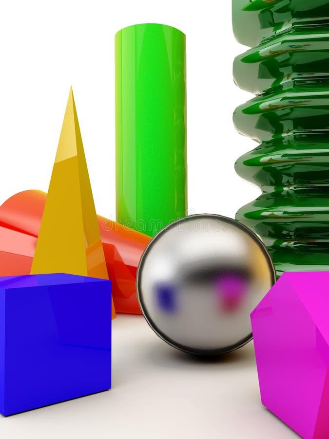 Basis vormen stock illustratie
