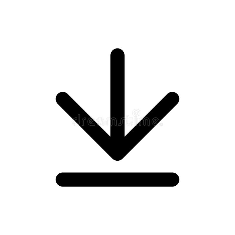 Basisapp downloadpictogram stock illustratie