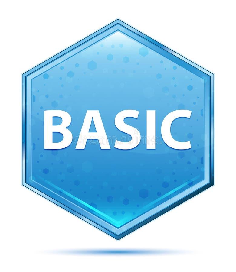 Basiskristal blauwe hexagon knoop vector illustratie